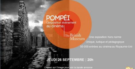 Exposition Pompéi cinéma gaumont Le Havre